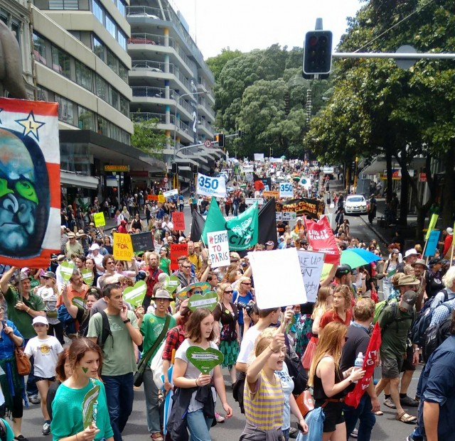 Foto bij Climate March in Auckland