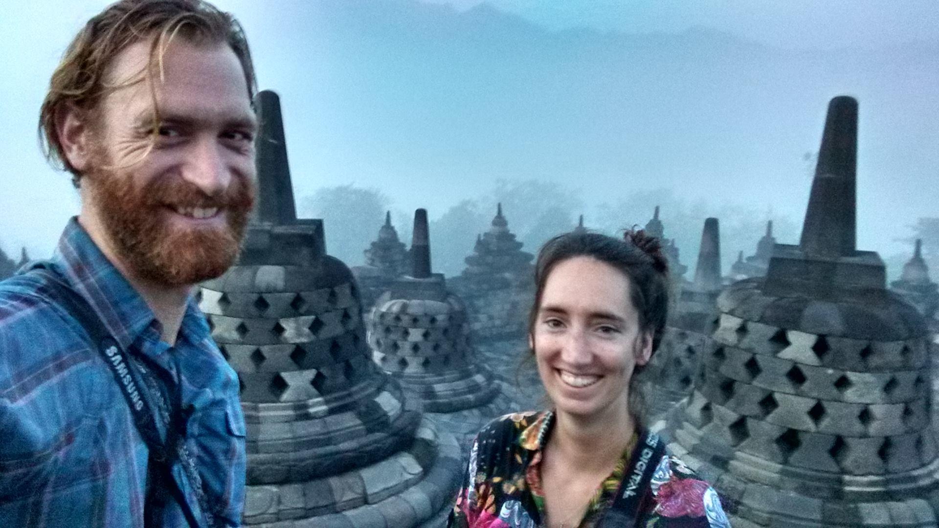 Foto bij Borobudur